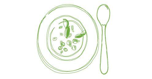 Ajo Blanco mit Trauben und Traubenkernöl