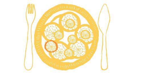 Zitrussalat mit schwarzem Pfeffer