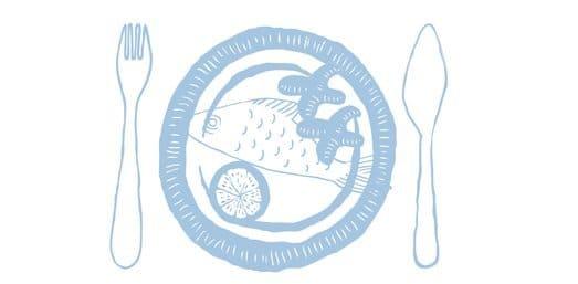Gebratener Weinbergpfirsich auf Zander mit weißem Pfeffer