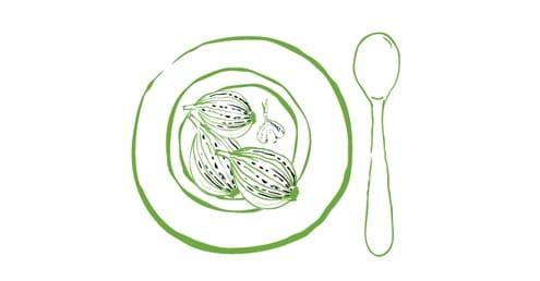 Karamellisierte Zwiebelsuppe mit Kampot Blanc