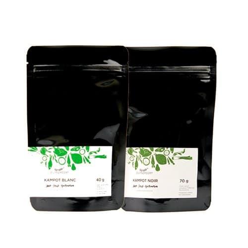 Edles Duo: Kampot Noir und Kampot Blanc