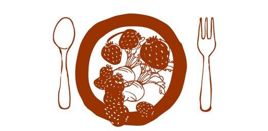 Rote Beete und Erdbeeren Salat