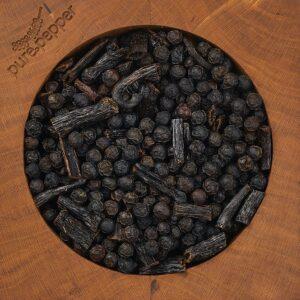 Vanillepfeffer ist für Mörser und Mühlen geeignet