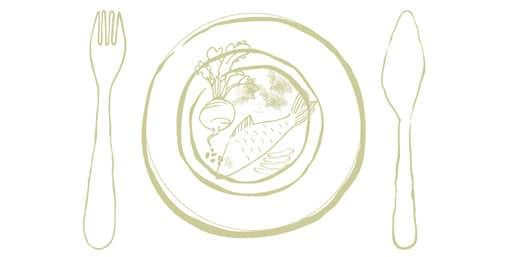 Salat aus Räucherforelle und Sellerie